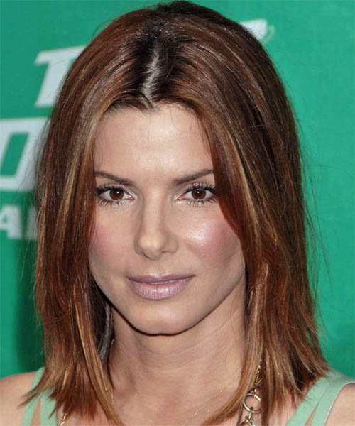 Sandra Bullock Medium Straight Casual Hairstyle