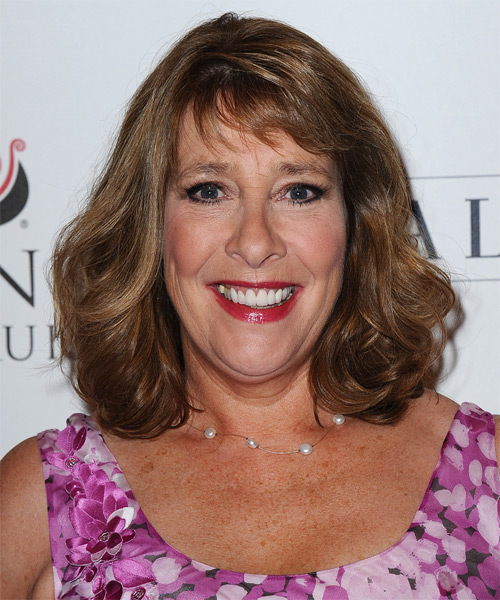 Phyllis Logan Medium Wavy Hairstyle