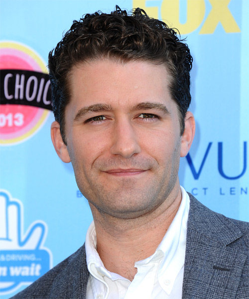 Matthew Morrison Short Curly Hairstyle
