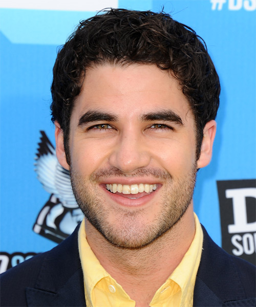 Darren Criss Short Curly Casual Hairstyle - Medium Brunette Hair Color