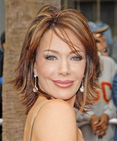 Hunter Tylo - Casual Medium Straight Hairstyle