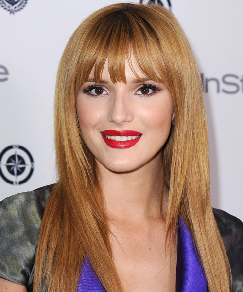 Bella Thorne Long Straight Formal Hairstyle
