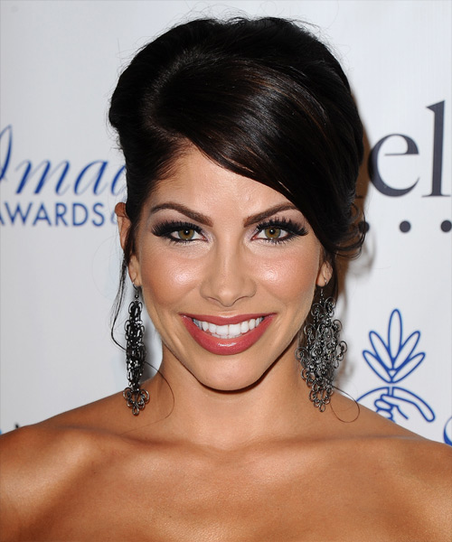 Valerie Ortiz Formal Straight Updo Hairstyle