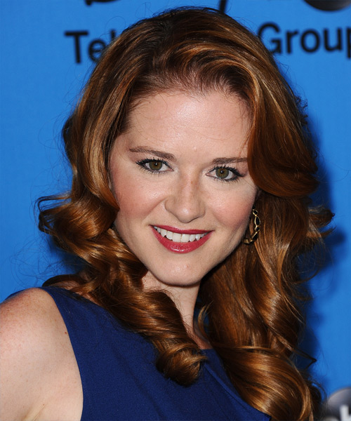 Sarah Drew Long Wavy Formal Hairstyle