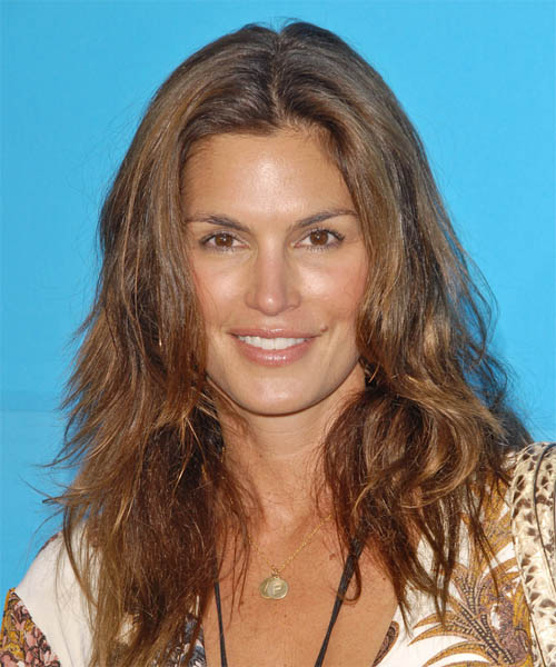 Cindy Crawford Long Wavy Hairstyle