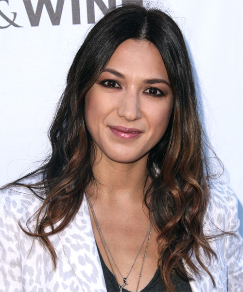 Michelle Branch Long Wavy Casual Hairstyle - Dark Brunette Hair Color