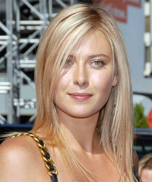 Maria Sharapova Long Straight Casual Hairstyle