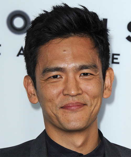 John Cho Short Straight Casual Hairstyle