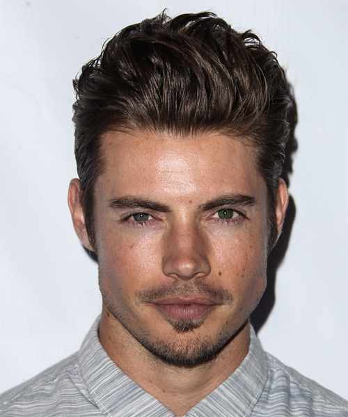 Josh Henderson Short Straight Formal Hairstyle - Medium Brunette Hair Color