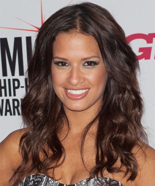 Rocsi Diaz Long Wavy Casual Hairstyle