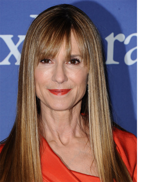 Holly Hunter Long Straight Hairstyle
