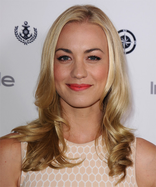 Yvonne Strahovski Long Wavy Formal Hairstyle