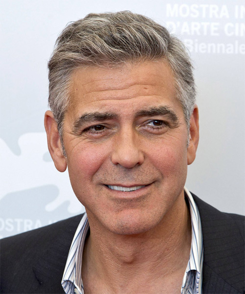George Clooney Short Straight Casual Hairstyle