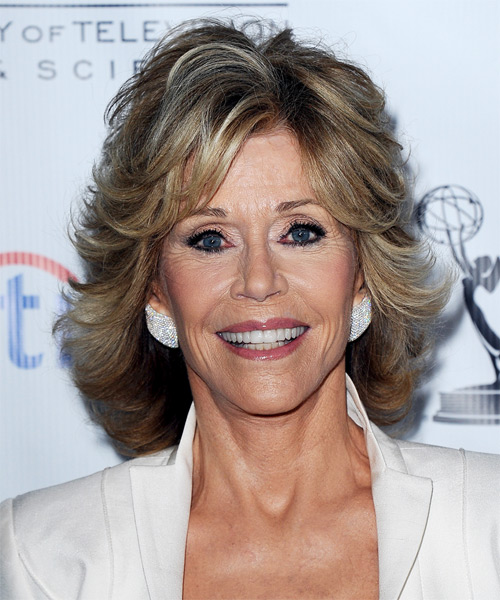 Jane Fonda Short Straight Formal Hairstyle