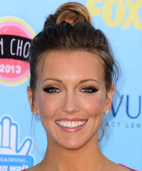 Katie Cassidy Updo Long Straight Casual