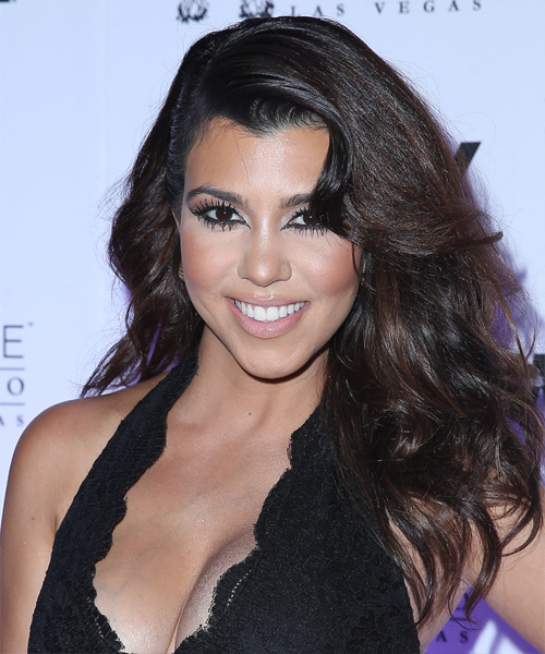 Kourtney Kardashian Long Straight Hairstyle
