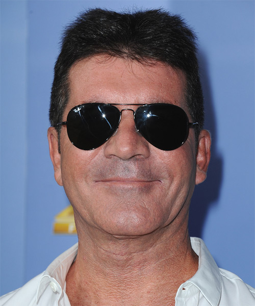 Simon Cowell Short Straight Hairstyle - Black