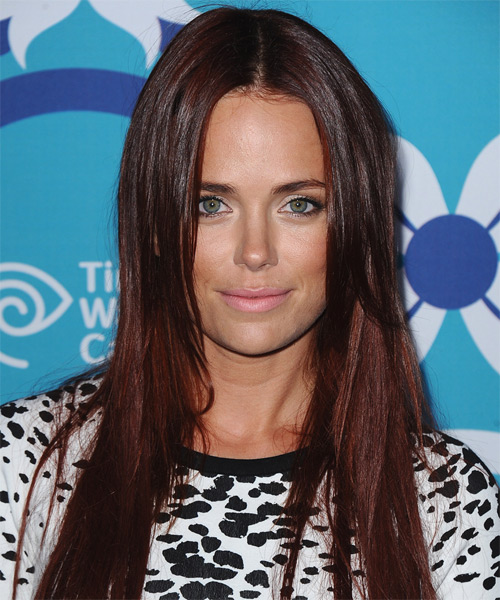 Katia Winter Long Straight Hairstyle