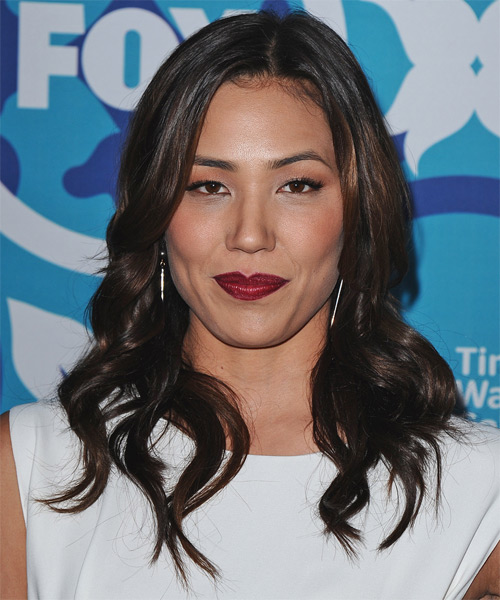 Michaela Conlin Long Wavy Formal Hairstyle