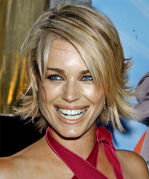 Rebecca Romijn Medium Straight Hairstyle