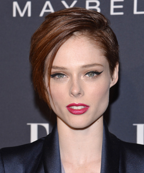 Coco Rocha Short Straight Hairstyle