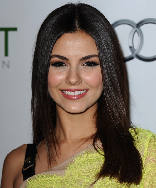 Victoria Justice Long Straight Formal Hairstyle