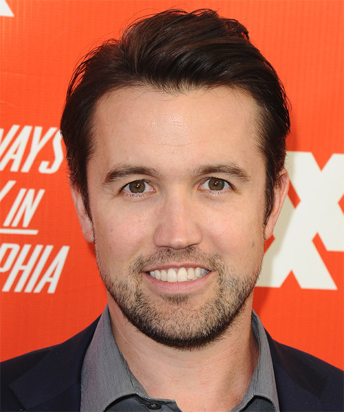 Rob McElhenney Short Straight Hairstyle