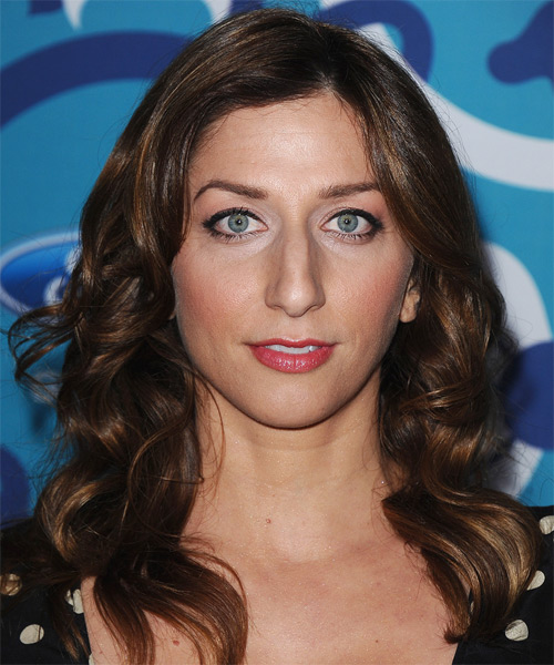 Chelsea Peretti Medium Wavy Formal Hairstyle