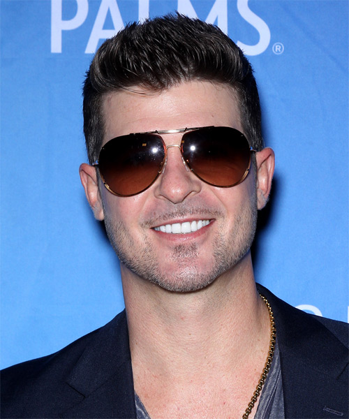 Robin Thicke Short Straight Casual Hairstyle