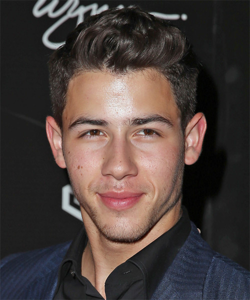 Nick Jonas Short Straight Formal Hairstyle