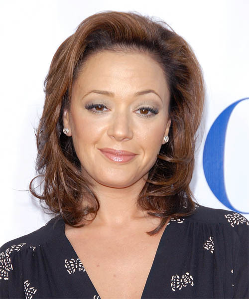 Leah Remini - Casual Medium Wavy Hairstyle