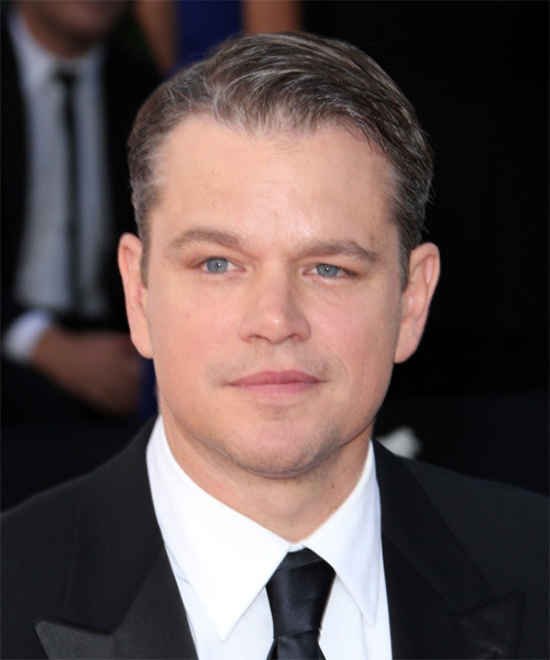 Matt Damon Short Straight Formal Hairstyle - Medium Brunette Hair Color