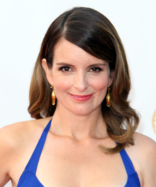 Tina Fey Long Wavy Formal Hairstyle