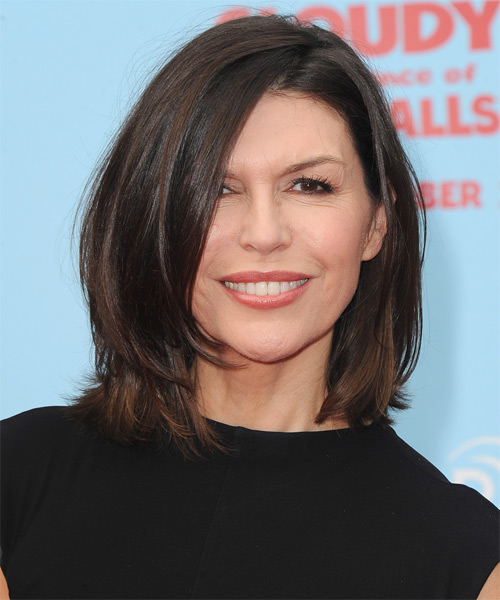 Finola Hughes Medium Straight Casual Hairstyle