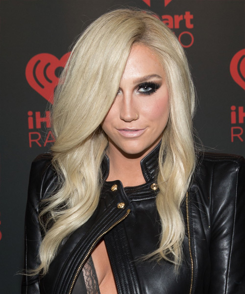Kesha Long Wavy Hairstyle