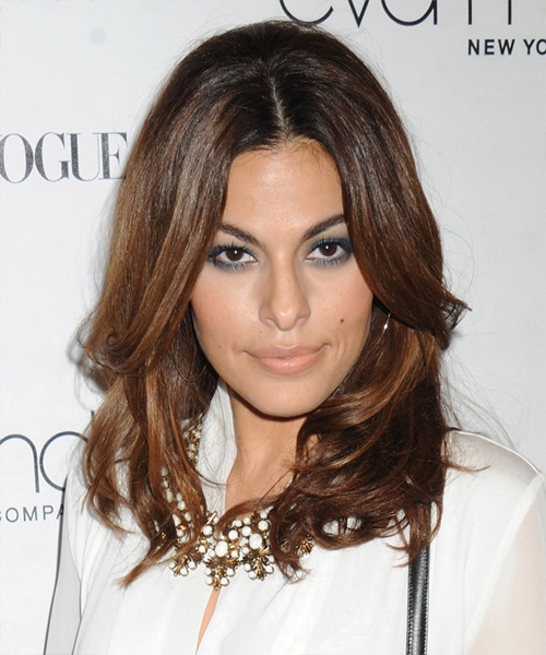 Eva Mendes Medium Straight Formal Hairstyle