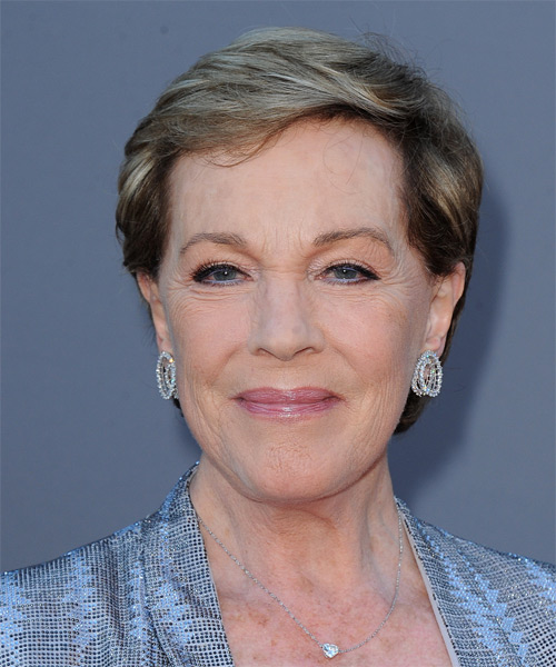 Julie Andrews Short Straight Hairstyle