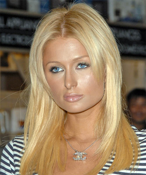 Paris Hilton Long Straight Hairstyle
