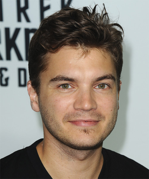 Emile Hirsch Short Straight Hairstyle - Dark Brunette