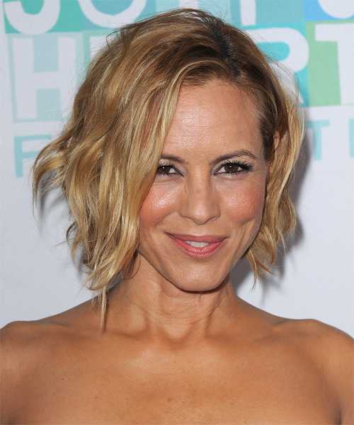 Maria Bello Short Straight Hairstyle