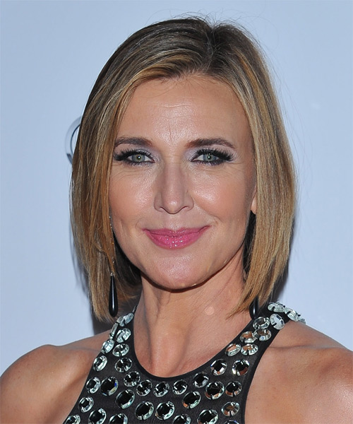 Brenda Strong Medium Straight Formal Hairstyle - Medium Blonde Hair Color