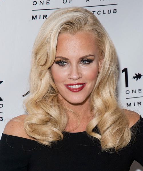 Jenny McCarthy Long Wavy Hairstyle - Light Blonde
