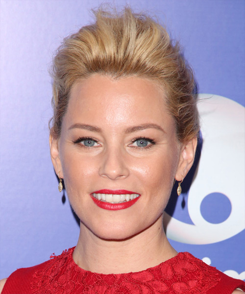 Elizabeth Banks Straight Casual Updo Hairstyle