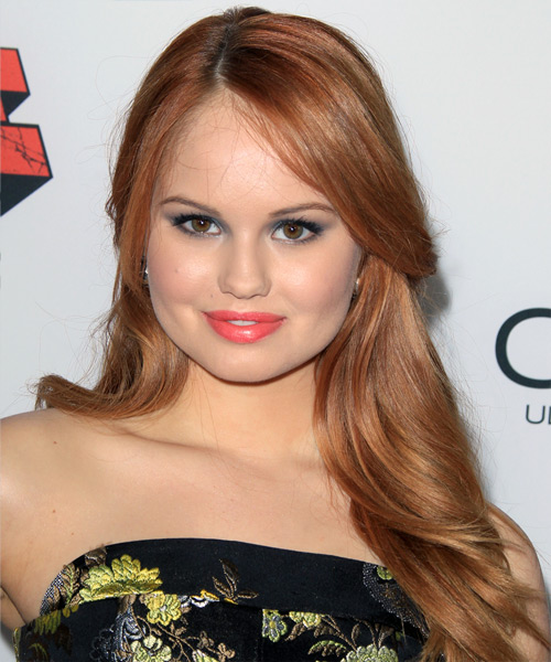 Debby Ryan Half Up Long Straight Casual Half Up Hairstyle