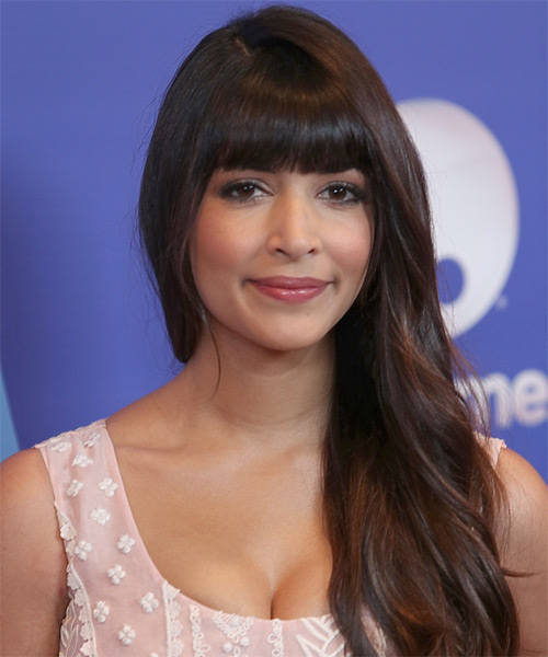 Hannah Simone Long Straight Hairstyle
