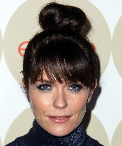 Katie Aselton Updo Long Straight Casual Updo Hairstyle