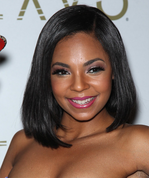 Ashanti Medium Straight Hairstyle
