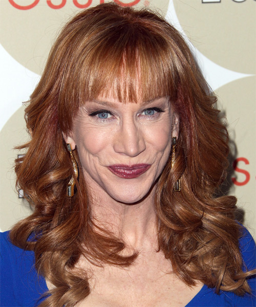 Kathy Griffin Long Wavy Formal Hairstyle