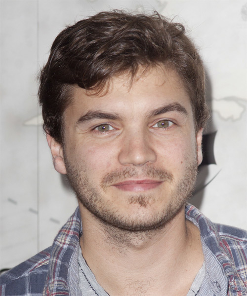 Emile Hirsch Short Straight Hairstyle - Light Brunette