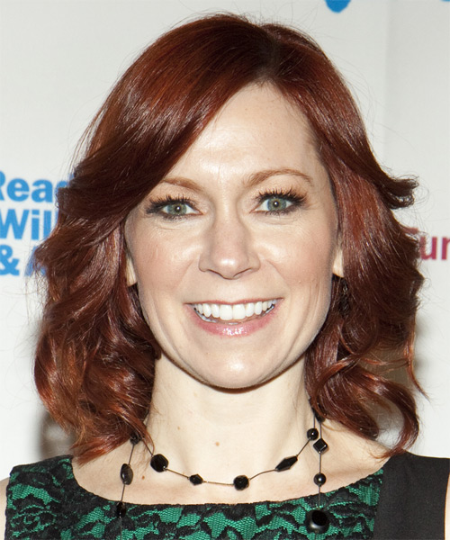 Carrie Preston Medium Wavy Hairstyle - Medium Red